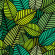 Pattern With Striped Leaves