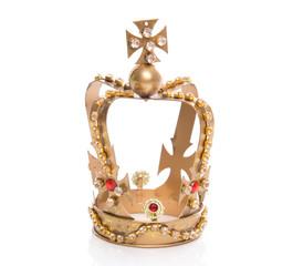 Goldene Krone vom König isoliert