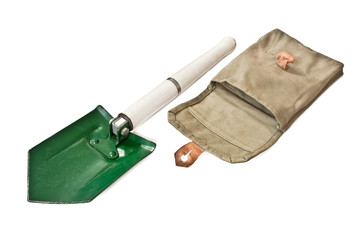 Hungarian Army paratroopers shovel