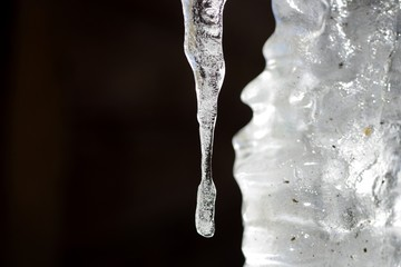 Icicle in sunshine