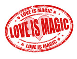 Love is magic stamp
