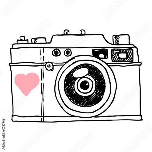 camera. vector sketch - 60767946