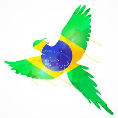 brazil macaw flag
