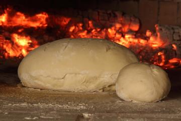 pane nel forno a legna