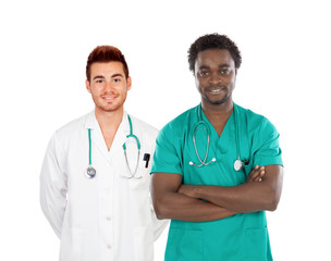 Handsome medical team