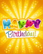 Colorful birthday greeting card