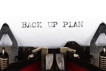 Typewriter with text back up plan