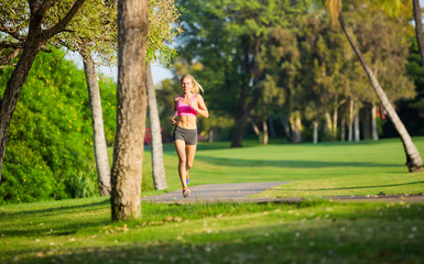 Young woman jogging running outdoors