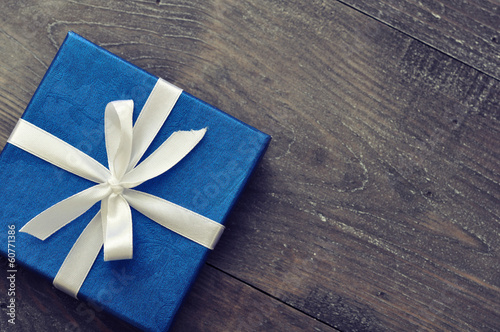 Blue elegant gift box - 60771386