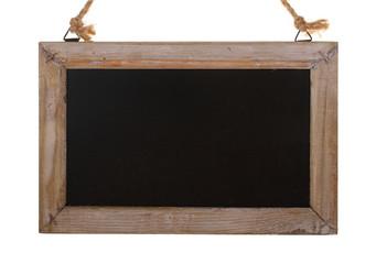Holzschild Nahaufnahme und freigestellt