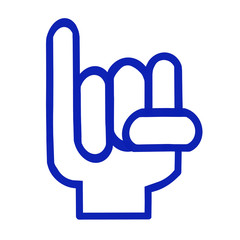 小指を立てるロゴ