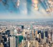 Stunning skyline and skyscrapers of Manhattan, New York