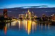 Frankfurt am Main skyline at night, Germany