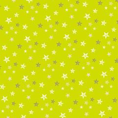 星柄パターン・グリーン