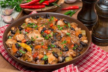 chili with black beans and chicken