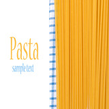 spaghetti on a napkin, isolated