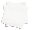two white square paper napkins isolated - 60775701