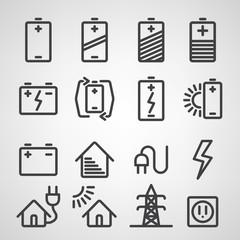 Energy and resource icon set