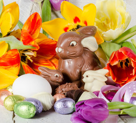 Frohe Ostern: Buntes Osternest :)