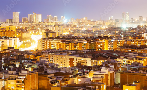 night view of  Barcelona, Spain