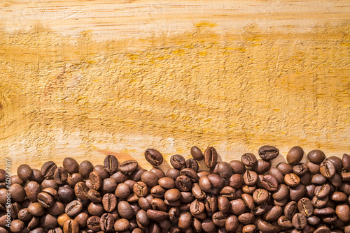 Coffee Beans and Wood