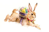 Easter rabbit. Happy easter