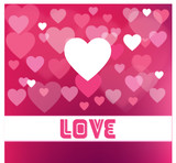 Abstract Vector Heart for Valentines Day Background