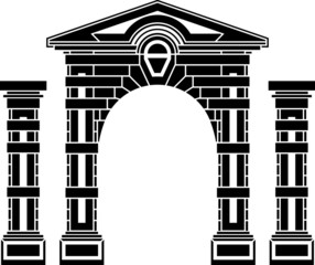 fantasy arch and columns. stencil. eighth variant