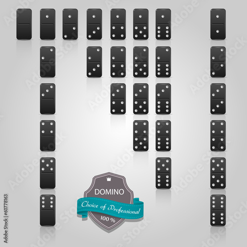 Domino black set of 28 pieces