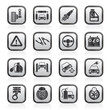Car and road services icons - vector icon set