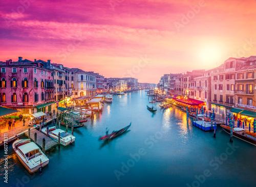 Aluminium Venetie Venedig bei Sonnenuntergang