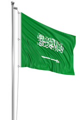 3D flag of Saudi Arabia