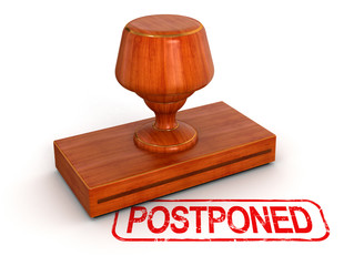 Rubber Stamp postponed  (clipping path included)
