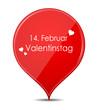 Button rot Valentinstag