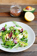 crispy salad with avocado and egg
