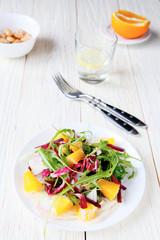 fresh salad with orange slices