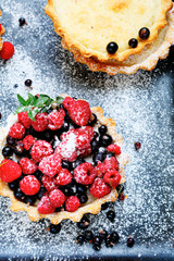 tartlets with summer berries