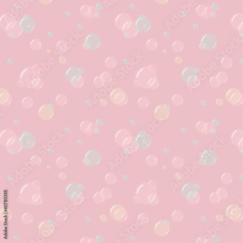 vector illustration of soap bubbles pattern