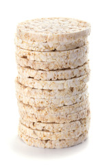 Corn crackers isolated on white background