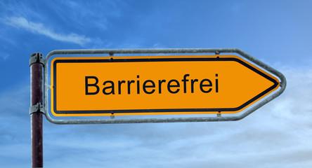 Strassenschild 8 - Barrierefrei