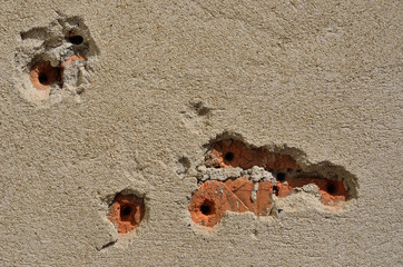 Wall with bullet-holes 11