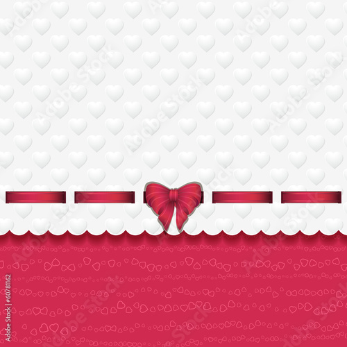 heart background with ribbon pink