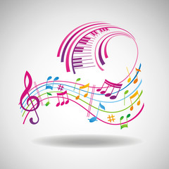 Colorful music background. © vectorgirl