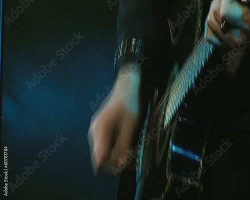 guitarist hands at a rock concert