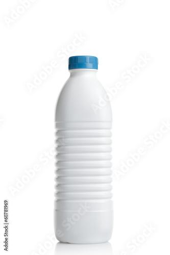 Leinwandbild Motiv Milk plastic bottle
