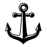 vector anchor black symbol
