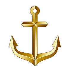 vector golden anchor
