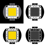 vector power LED energy saving chip symbols