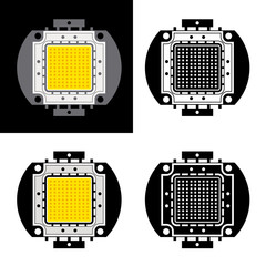 vector power LED energy saving chip symbols