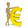 Dummy with euro icon
